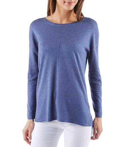 Fin pull femme coupe loose