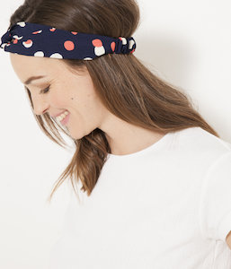 Headband pois multicolores femme