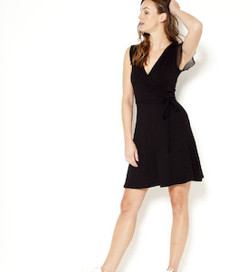Robe genoux manches voile