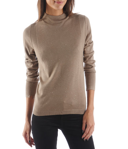 Pull femme col cheminée