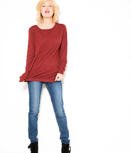 Pull chiné femme