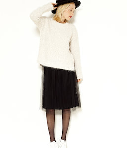 Pull femme maille shaggy