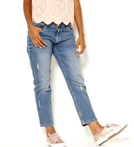 Jean relax fit femme