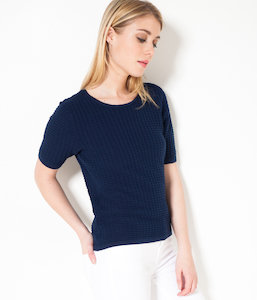 Pull femme manches courtes
