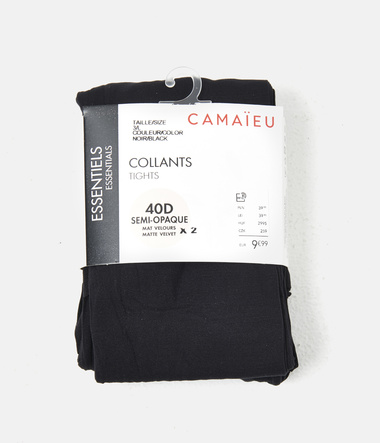 Lot de 2 collants semi-opaques
