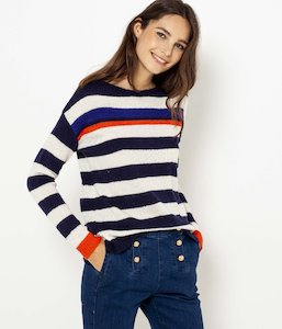 Pull à rayures femme