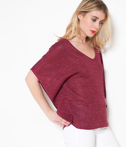 Pull femme manches papillon