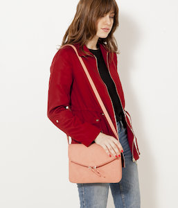 Sac besace double zips femme