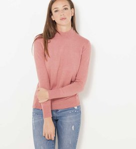 Pull fin col montant femme