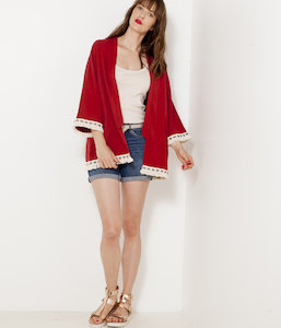 reputable site ee709 7142a OUTLET. Kimono femme franges Kimono femme franges