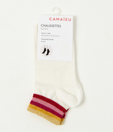 Chaussettes blanches fantaisies femme