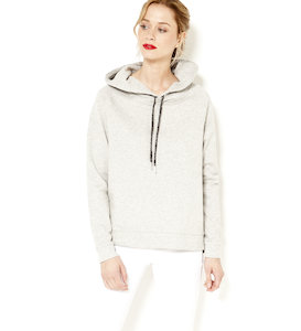 Sweat capuche femme fils brillants