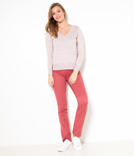 Pull femme chiné