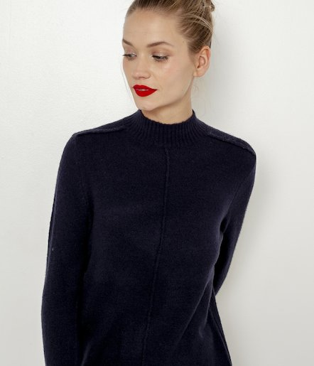Robe pull coutures apparentes