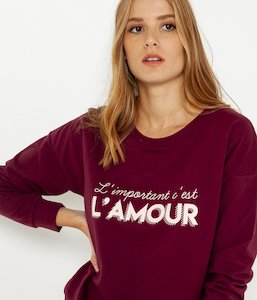 Sweat message Deedee femme