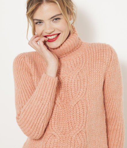 Roulé Maille Col Femme Grosse Pull zn4paa