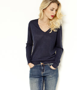 Pull femme maille fine
