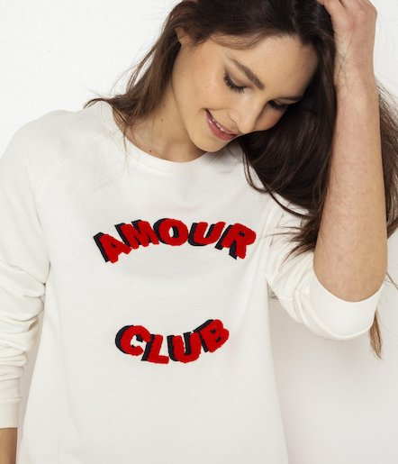 Sweat Amour Club femme