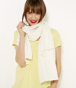 Foulard femme broderies anglaises